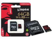 CARTAO DE MEMORIA CLASSE 10 SDCR/64GB MICRO SDXC 64GB 100R/80W UHS-I U3 V30 CANVAS REACT