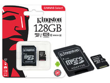 CARTAO DE MEMORIA CLASSE 10 KINGSTON SDCS/128GB MICRO SDXC 128GB 80R/10W UHS-I U1 CANVAS SELECT