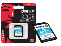 CARTAO DE MEMORIA CLASSE 10 SDG/32GB SDHC 32GB 90R/45W UHS-I U3 V30 CANVAS GO
