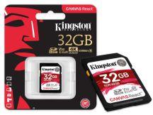CARTAO DE MEMORIA CLASSE 10 SDR/32GB SDHC 32GB 100R/80W UHS-I U3 V30 CANVAS REACT