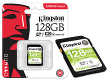 CARTAO DE MEMORIA CLASSE 10 SDS/128GB SDXC 128GB 80R/10W UHS-I U1 CANVAS SELECT