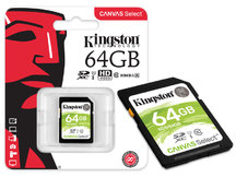 CARTAO DE MEMORIA CLASSE 10 SDS/64GB SDXC 64GB 80R/10W UHS-I U1 CANVAS SELECT