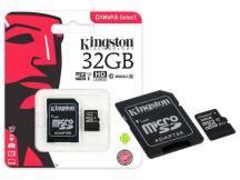 CARTAO DE MEMORIA CLASSE 10 SDCS/32GB MICRO SDHC 32GB 80R/10W UHS-I U1 CANVAS SELECT