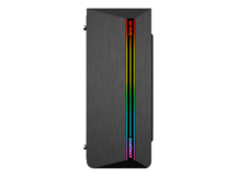 GABINETE GAMER GAMEMAX G517 SHINE FRONTAL FITA LED LATERAL VIDRO TEMPERADO 2XUSB 3.0 / 2X USB 2.0 1FAN RAINBOW