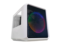 GABINETE GAMER K-MEX CG-04RC MICROCRAFT IV BRANCO CUBO FRONTAL 1 FAN 200MM LED MULTICOLORS USB 3.0/2.0 S/FONTE