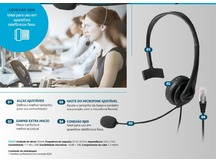 HEADSET COM CONECTOR RJ09 P/ TELEMARKETING PH251