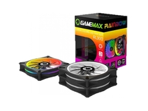 KIT COOLER GABINETE GAMEMAX RL300 3 FAN X 12X12CM RGB RAINBOW 21LEDS C/CONTROLE REMOTO