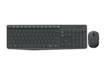 TECLADO E MOUSE KIT LOGITECH WIRELESS MK235 PRETO