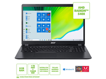 NOTEBOOK ACER 15,6 HD A31542GR7NB R53500U 8GB 1TB HD + 128GB SSD W10 HOME RADEON