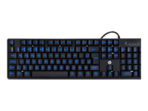 TECLADO HP GAMER - K300 BLACK - LED AZUL - ABNT2