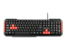 TECLADO MULTIMIDIA GAMER RED KEYS USB MULTILASER TC160